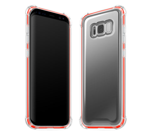 Graphite / Neon Red <br>Samsung S8 - Glow Gel case combo
