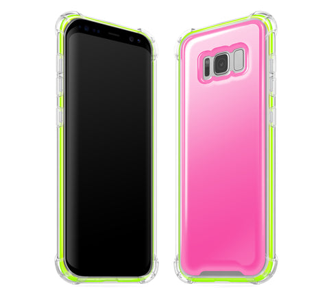 Cotton Candy / Neon Yellow <br>Samsung S8 - Glow Gel case combo
