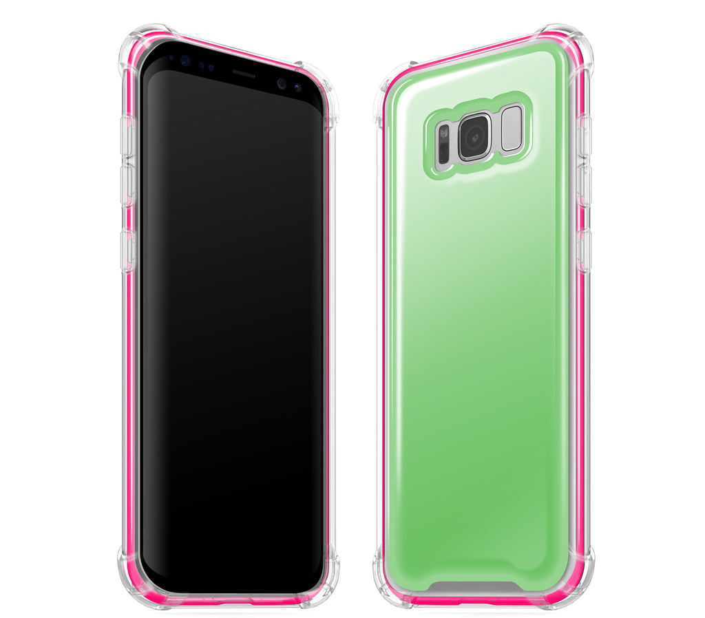 Apple Green / Neon Pink <br>Samsung S8 - Glow Gel case combo