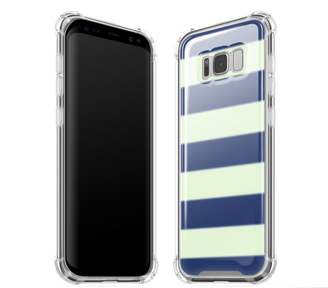 Nautical Striped <br>Samsung S8 - Glow Gel case