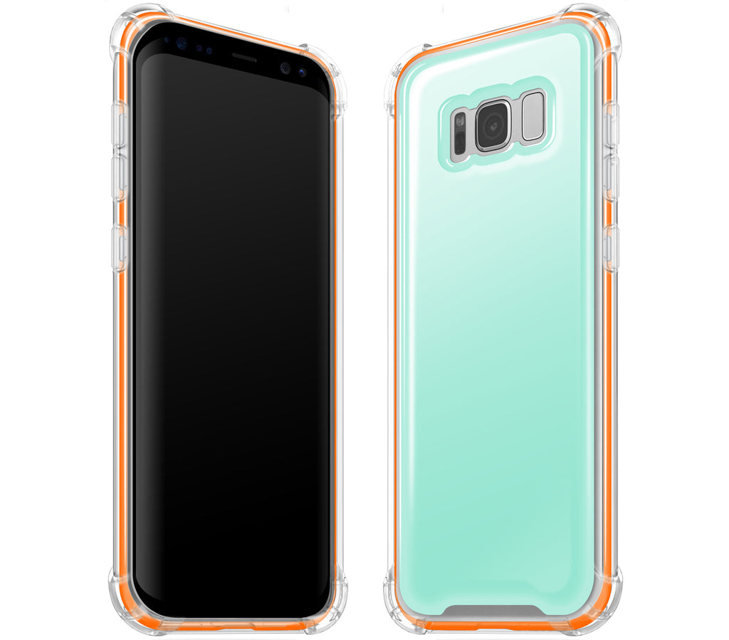 Mint / Neon Orange <br>Samsung S8 PLUS - Glow Gel case combo