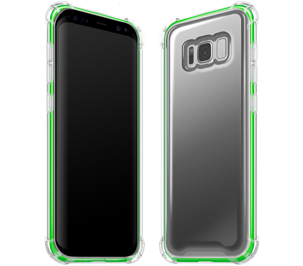 Graphite / Neon Green <br>Samsung S8 PLUS - Glow Gel case combo