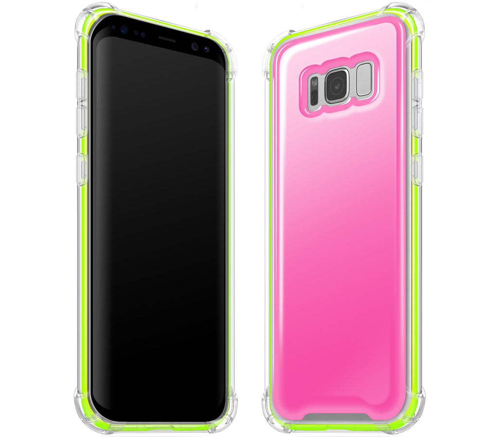Cotton Candy / Neon Yellow <br>Samsung S8 PLUS - Glow Gel case combo