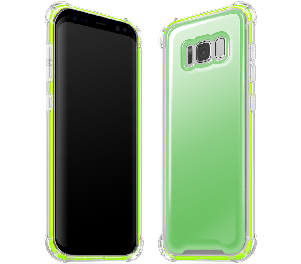 Apple Green / Neon Yellow <br>Samsung S8 PLUS - Glow Gel case combo