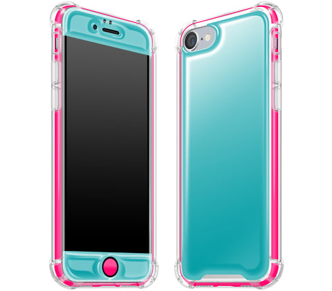 Teal / Neon Pink <br>iPhone 7/8 - Glow Gel case combo