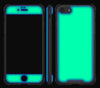 Mint / Neon Orange <br>iPhone 7/8 - Glow Gel case combo