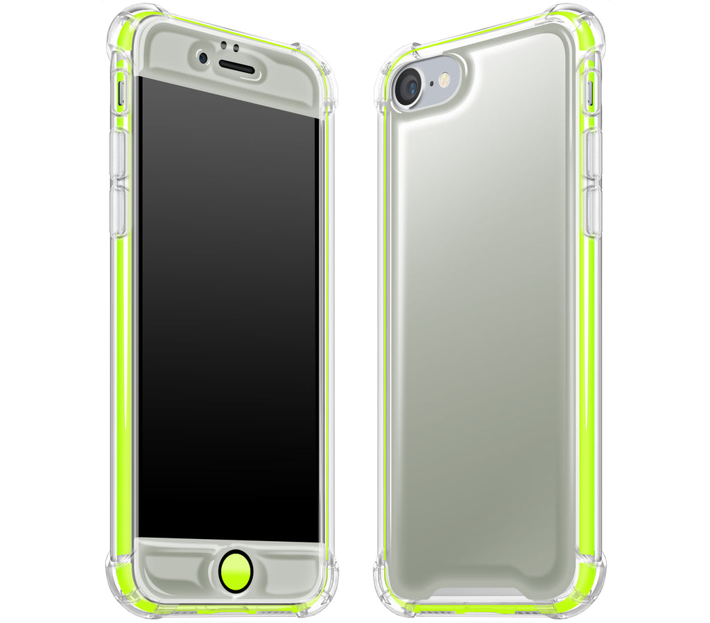 Steel Ash / Neon Yellow <br>iPhone 7/8 - Glow Gel case combo