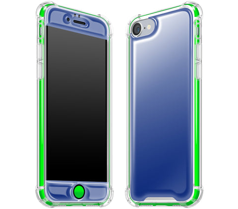Navy Blue / Neon Green <br>iPhone 7/8 - Glow Gel case combo