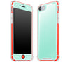 Mint / Neon Red <br>iPhone 7/8 - Glow Gel case combo