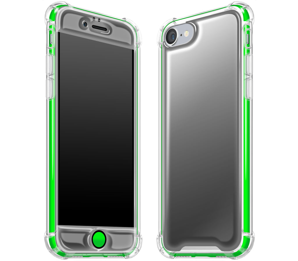 Graphite / Neon Green <br>iPhone 7/8 - Glow Gel case combo