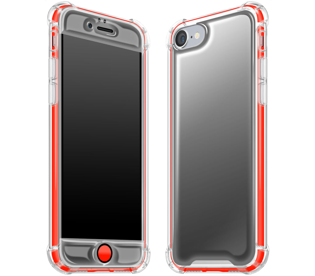 Graphite / Neon Red <br>iPhone 7/8 - Glow Gel case combo