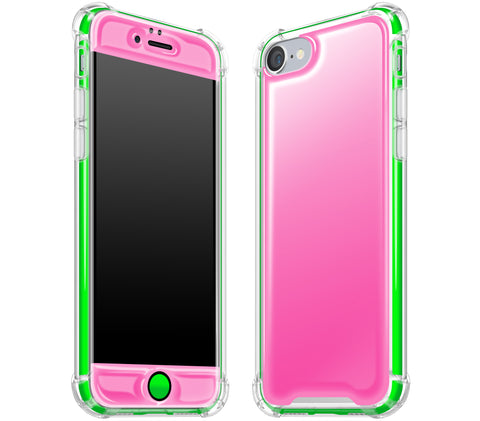 Cotton Candy / Neon Green <br>iPhone 7/8 - Glow Gel case combo