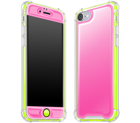 Cotton Candy / Neon Yellow <br>iPhone 7/8 - Glow Gel case combo