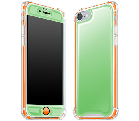 Apple Green / Neon Orange <br>iPhone 7/8 - Glow Gel case combo