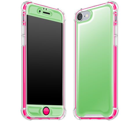 Apple Green / Neon Pink <br>iPhone 7/8 - Glow Gel case combo