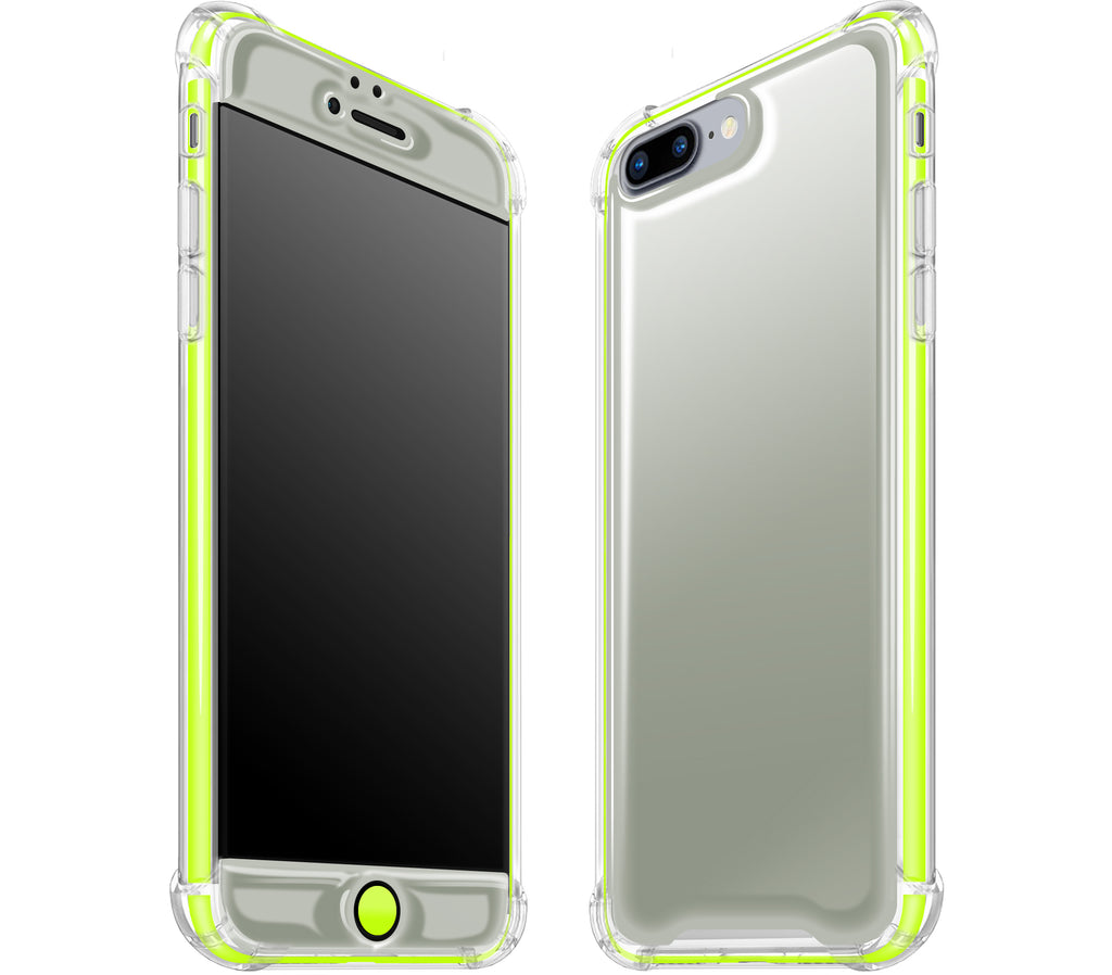 Steel Ash / Neon Yellow <br>iPhone 7/8 PLUS - Glow Gel case combo