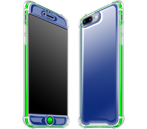 Navy Blue / Neon Green <br>iPhone 7/8 PLUS - Glow Gel case combo