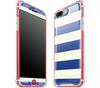Nautical Striped / Neon Red <br>iPhone 7/8 PLUS - Glow Gel case combo