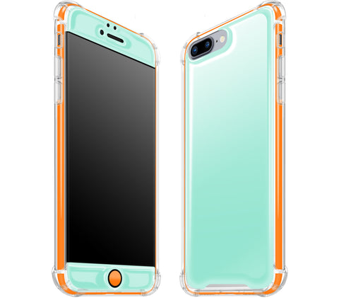 Mint / Neon Orange <br>iPhone 7/8 PLUS - Glow Gel case combo