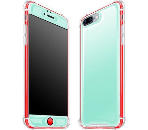 Mint / Neon Red <br>iPhone 7/8 PLUS - Glow Gel case combo