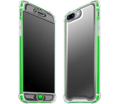 Graphite / Neon Green <br>iPhone 7/8 PLUS - Glow Gel case combo