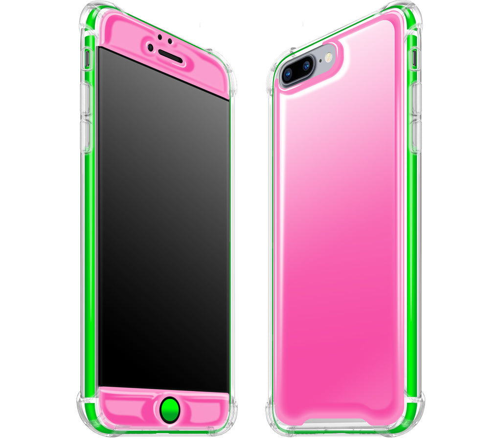 Cotton Candy / Neon Green <br>iPhone 7/8 PLUS - Glow Gel case combo