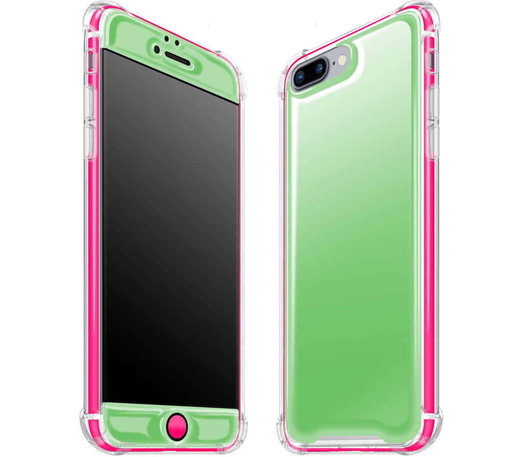 Apple Green / Neon Pink <br>iPhone 7/8 PLUS - Glow Gel case combo
