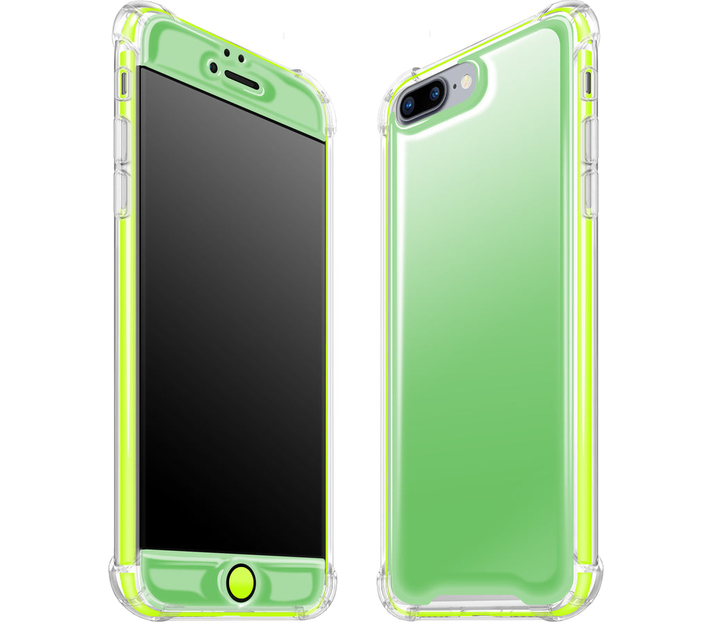 Apple Green / Neon Yellow <br>iPhone 7/8 PLUS - Glow Gel case combo