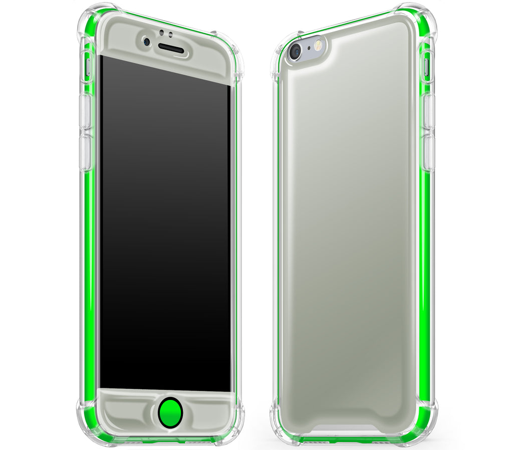 Steel Ash / Neon Green <br>iPhone 6/6s - Glow Gel case combo