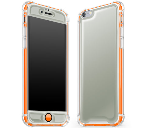 Steel Ash / Neon Orange <br>iPhone 6/6s - Glow Gel case combo