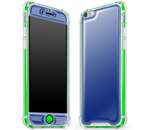 Navy Blue / Neon Green <br>iPhone 6/6s - Glow Gel case combo