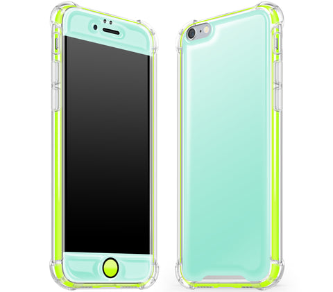 Mint / Neon Yellow <br>iPhone 6/6s - Glow Gel case combo