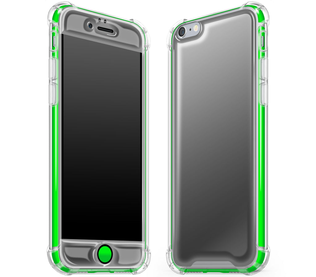 Graphite / Neon Green <br>iPhone 6/6s - Glow Gel case combo