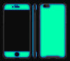 Atomic Ice / Neon Green <br>iPhone 6/6s - Glow Gel case combo