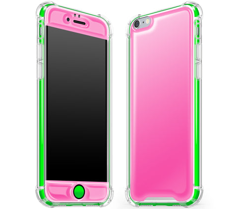 Cotton Candy / Neon Green <br>iPhone 6/6s - Glow Gel case combo