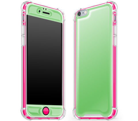 Apple Green / Neon Pink <br>iPhone 6/6s - Glow Gel case combo