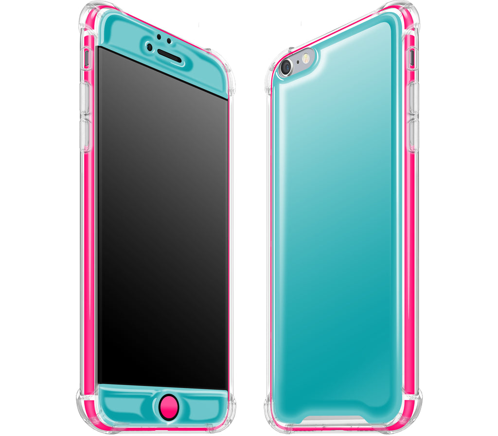Teal / Neon Pink <br>iPhone 6/6s PLUS - Glow Gel case combo