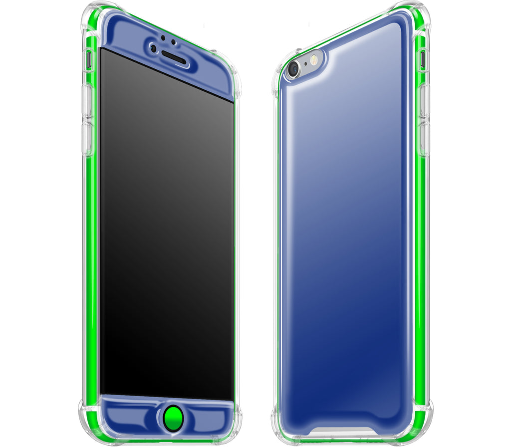 Navy Blue / Neon Green <br>iPhone 6/6s PLUS - Glow Gel case combo