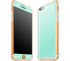 Mint / Neon Orange <br>iPhone 6/6s PLUS - Glow Gel case combo