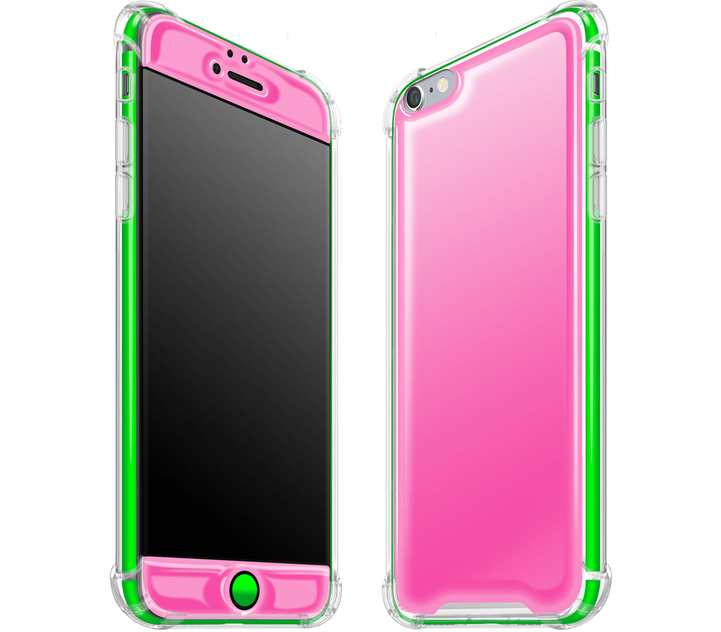 Cotton Candy / Neon Green <br>iPhone 6/6s PLUS - Glow Gel case combo