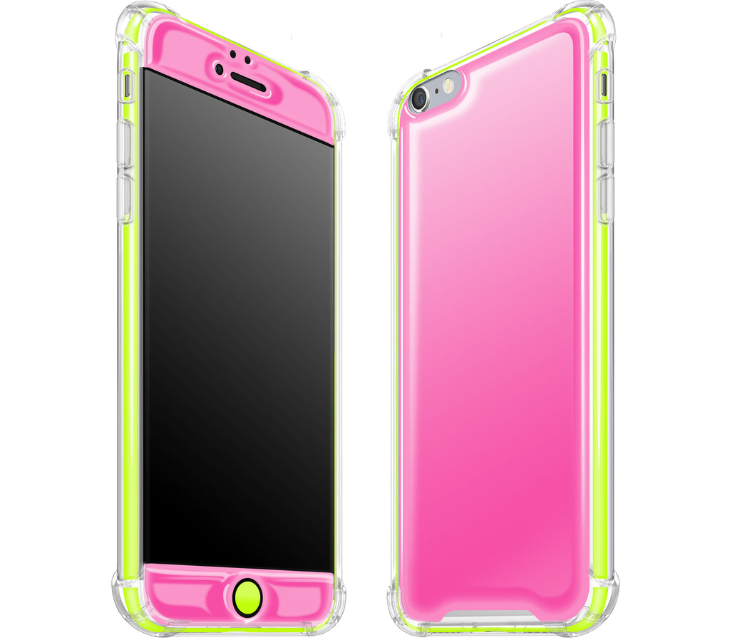 Cotton Candy / Neon Yellow <br>iPhone 6/6s PLUS - Glow Gel case combo
