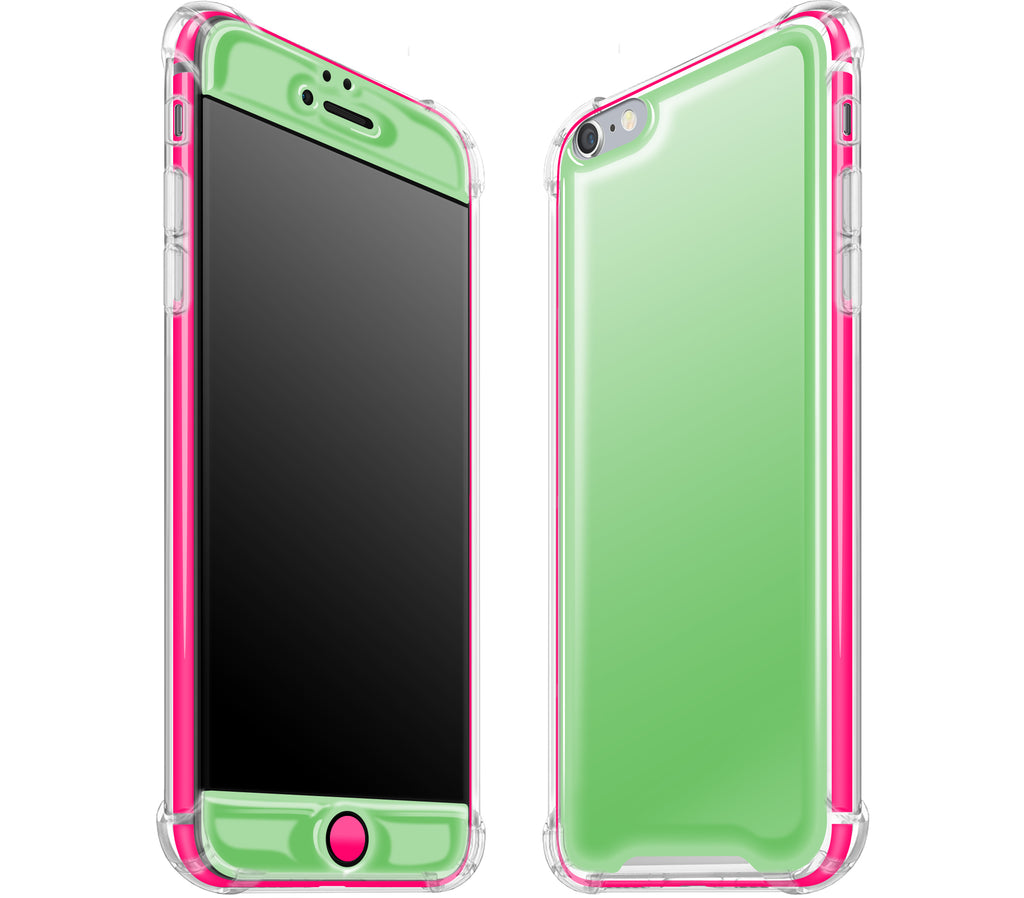Apple Green / Neon Pink <br>iPhone 6/6s PLUS - Glow Gel case combo