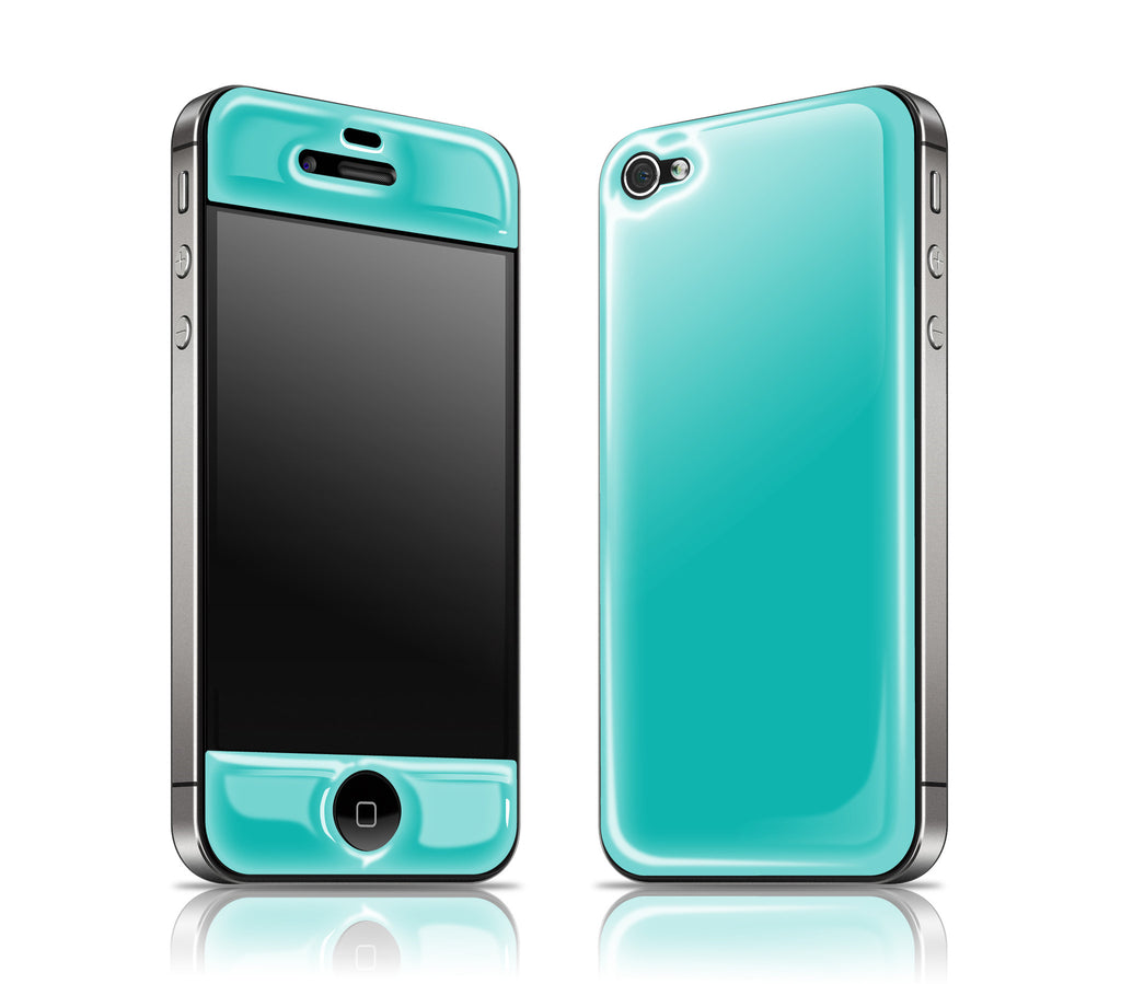 Teal<br> Glow Gel skin - iPhone 4 / 4s