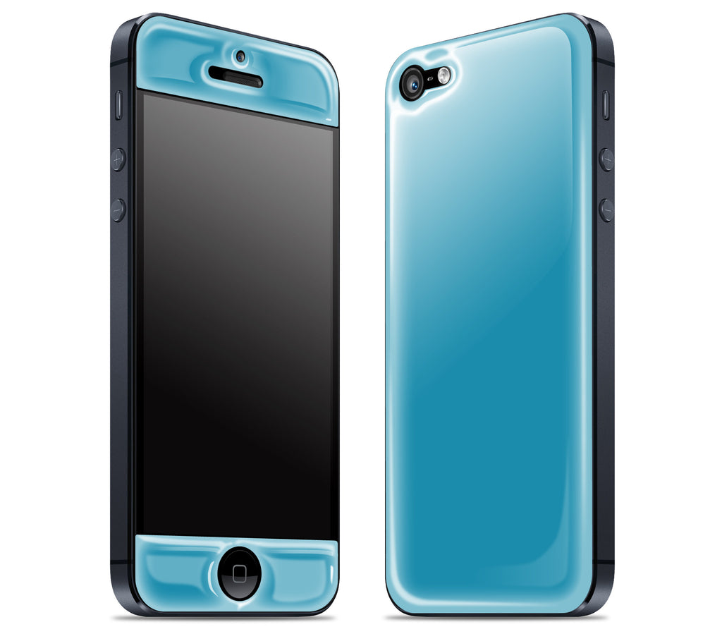 Electric Blue <br>iPhone 5 - Glow Gel Skin