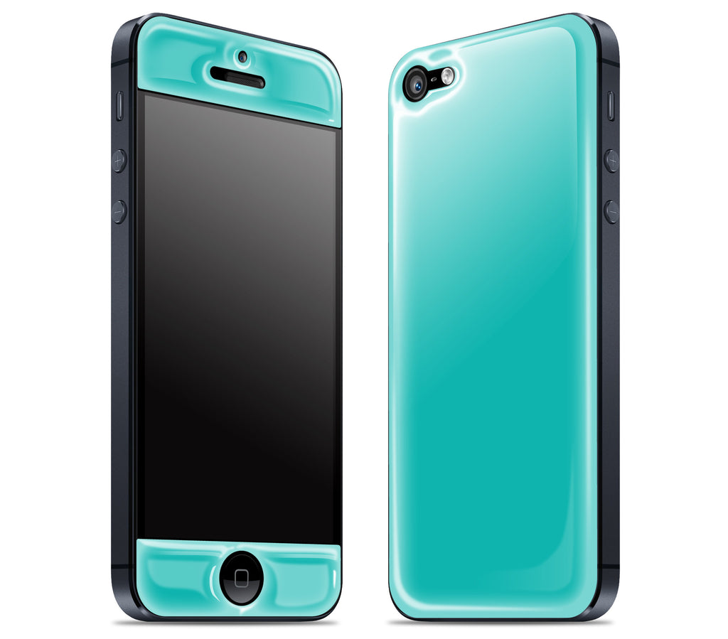 Teal <br>iPhone 5 - Glow Gel Skin