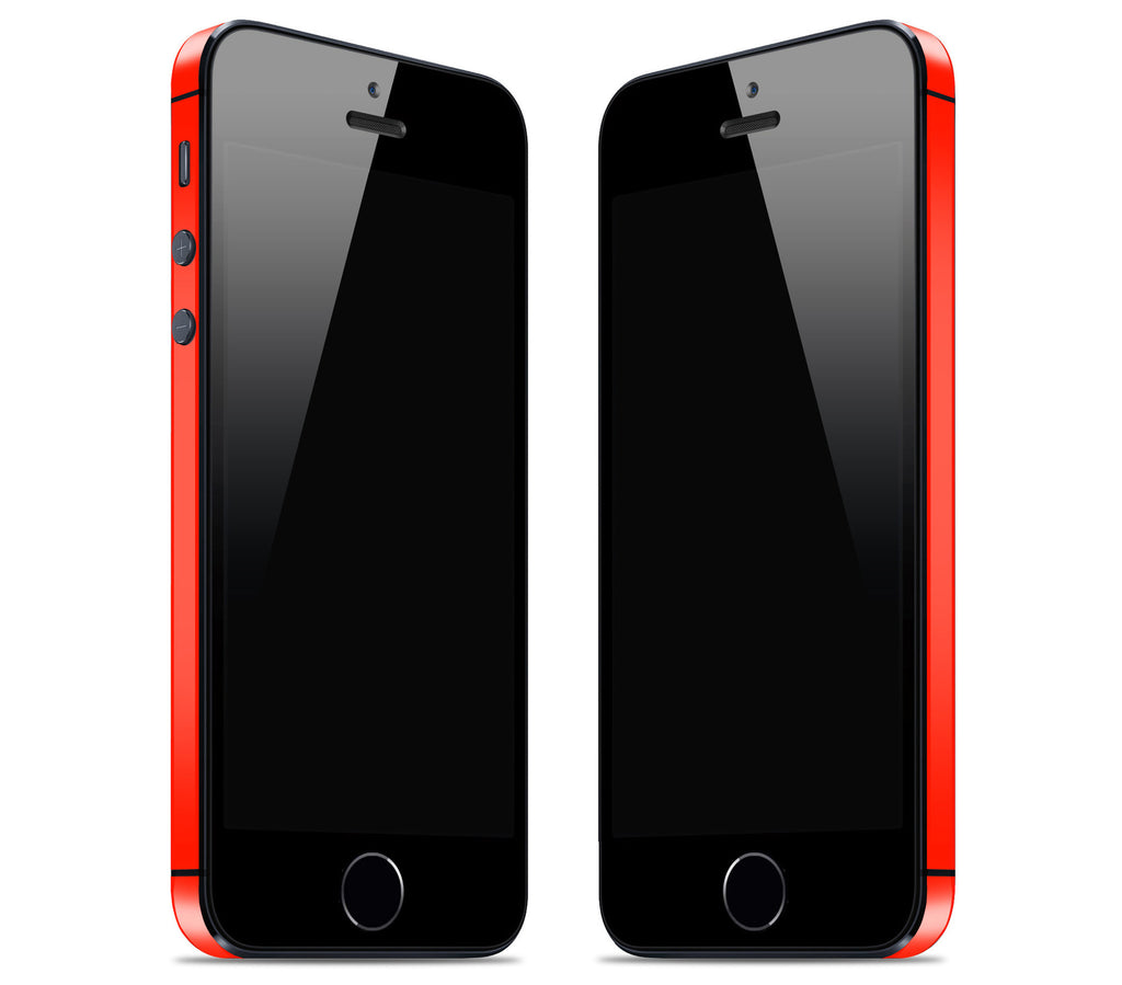 Neon Red <br>Bumper Rim Skin - iPhone SE