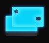 Blue Glow <br>Apple Card Glow Cover