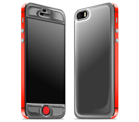 Graphite / Neon Red <br>iPhone SE - Glow Gel Combo
