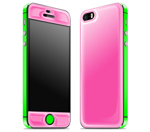 Cotton Candy / Neon Green <br>iPhone SE - Glow Gel Combo