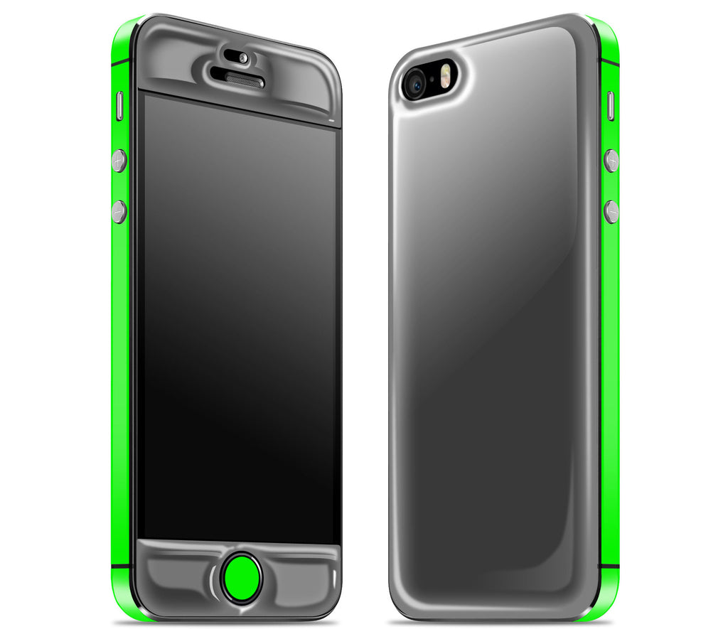 Graphite / Neon Green <br>iPhone SE - Glow Gel Combo